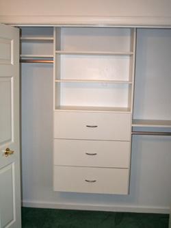 Closet Organizer. Reach In Closet